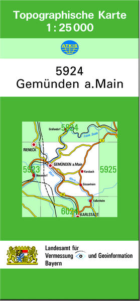 TK25 5924 Gemünden a.Main - Coverbild
