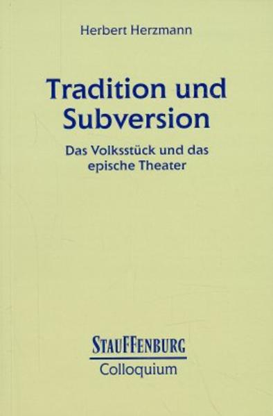 Tradition und Subversion - Coverbild