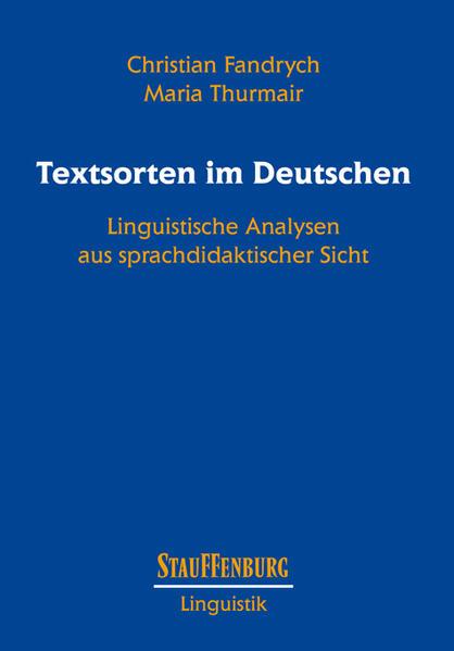 Textsorten im Deutschen - Coverbild