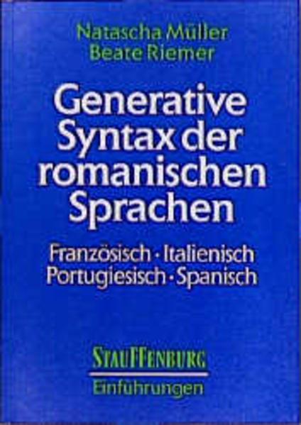 Generative Syntax der romanischen Sprachen - Coverbild