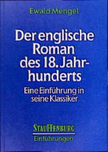 Der englische Roman des 18. Jahrhunderts - Coverbild