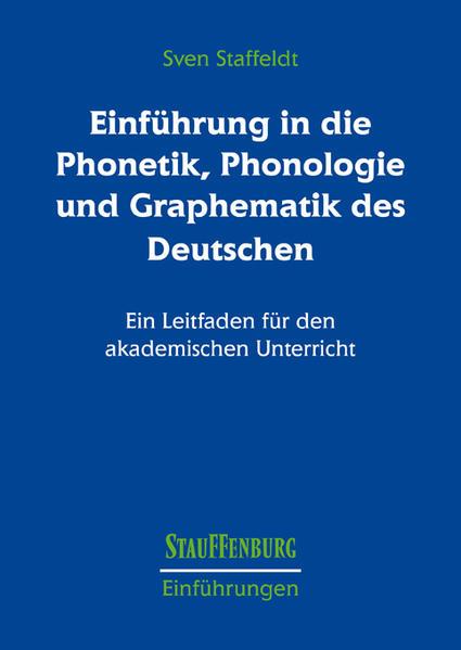 Einführung in die Phonetik, Phonologie und Graphematik des Deutschen - Coverbild