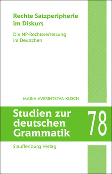 Rechte Satzperipherie im Diskurs - Coverbild