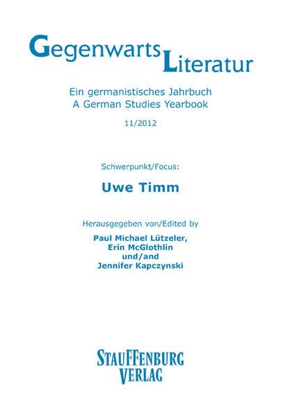 Gegenwartsliteratur. Ein Germanistisches Jahrbuch /A German Studies Yearbook / 11/2012 - Coverbild