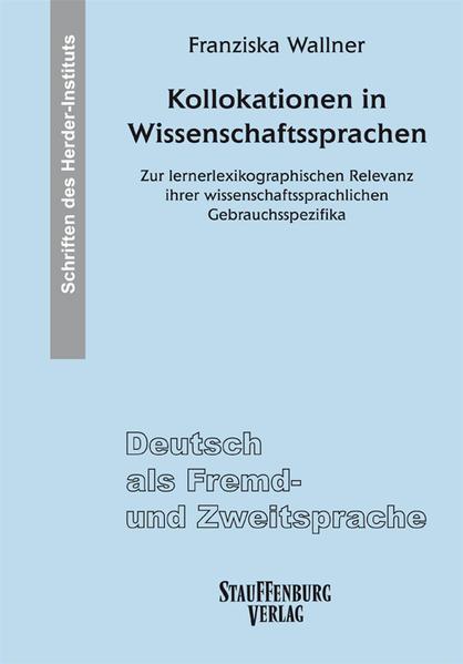 Kollokationen in Wissenschaftssprachen - Coverbild