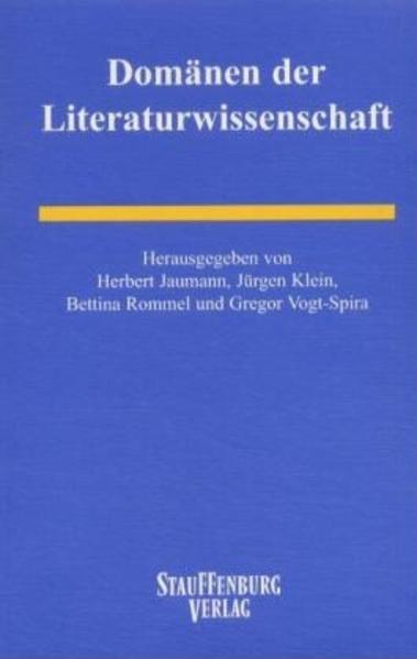 Domänen der Literaturwissenschaft - Coverbild