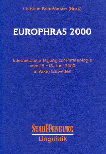 EUROPHRAS 2000 - Coverbild