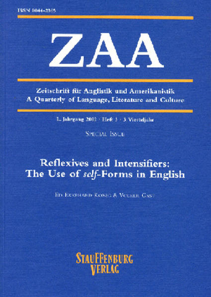 Zeitschrift für Anglistik und Amerikanistik / Reflexives and Intensifiers: The Use of self-Forms in English - Coverbild