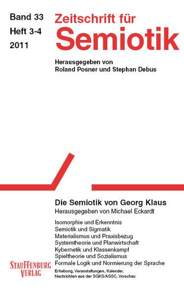 Zeitschrift für Semiotik / Die Semiotik von Georg Klaus - Coverbild