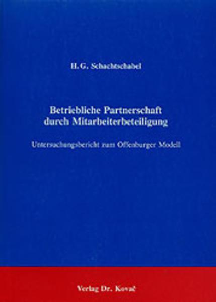 Betriebliche Partnerschaft durch Mitarbeiterbeteiligung - Coverbild