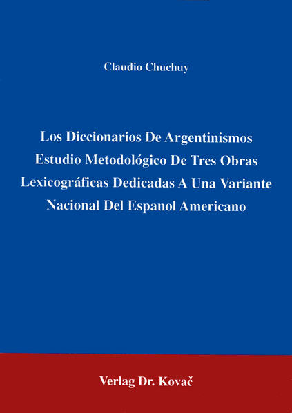 Los Diccionarios De Argentinismos - Coverbild