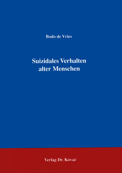 Suizidales Verhalten alter Menschen - Coverbild