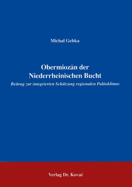 Obermiozän der Niederrheinischen Bucht - Coverbild