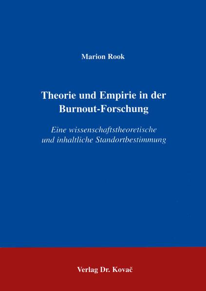 Theorie und Empirie in der Burnout-Forschung - Coverbild