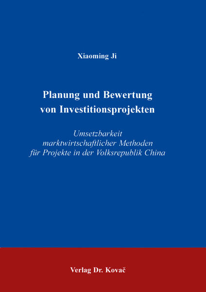 Planung und Bewertung von Investitionsprojekten - Coverbild