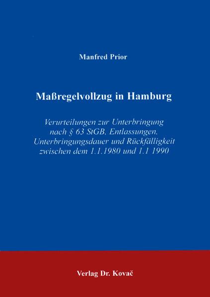 Massregelvollzug in Hamburg - Coverbild