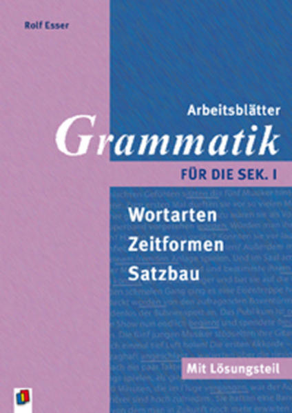 Kostenloser Download Arbeitsblätter Grammatik für die Sek.I PDF