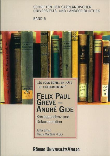 Felix Paul Greve - André Gide - Coverbild