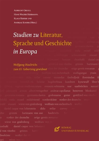 Studien zu Literatur, Sprache und Geschichte in Europa - Coverbild