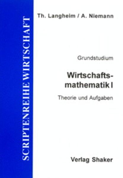 Wirtschaftsmathematik / Wirtschaftsmathematik I - Coverbild