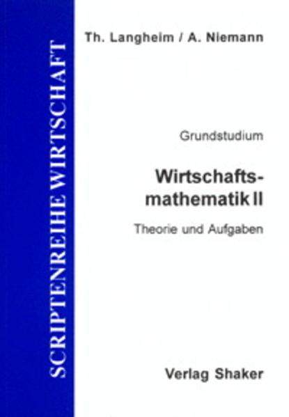Wirtschaftsmathematik / Wirtschaftsmathematik II - Coverbild