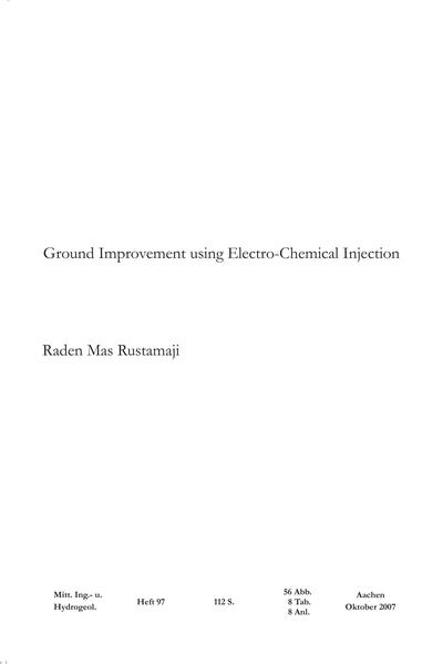 Ground improvement using electro-chemical injection - Coverbild