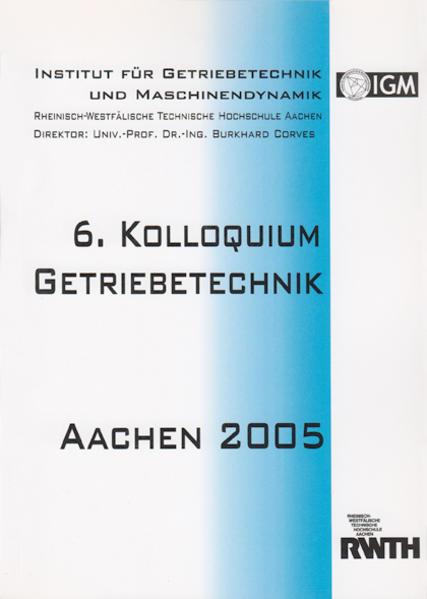 6. Kolloquium Getriebetechnik - Coverbild