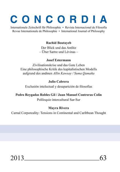 Concordia Internationale Zeitschrift für Philosophie. Heft 63 - Coverbild