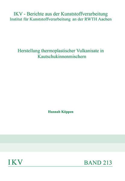 Herstellung thermoplastischer Vulkanisate in Kautschkinnenmischern - Coverbild