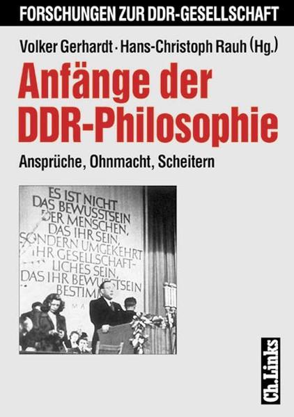 Anfänge der DDR-Philosophie - Coverbild