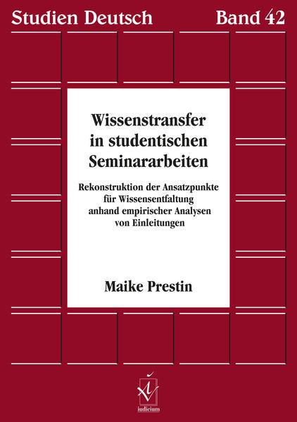 Wissenstransfer in studentischen Seminararbeiten - Coverbild