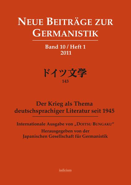 Neue Beiträge zur Germanistik - Coverbild