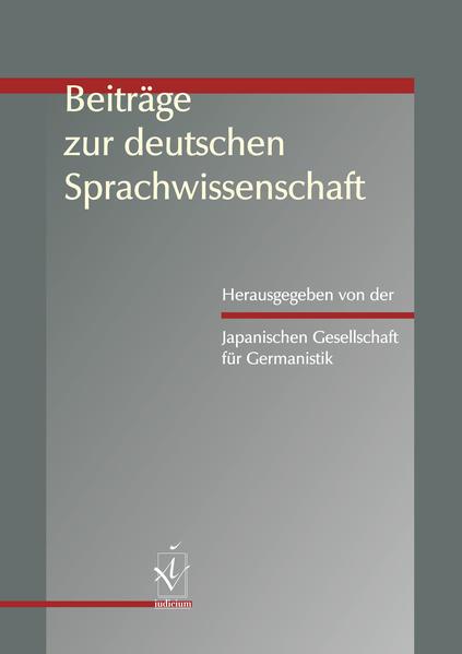 Beiträge zur deutschen Sprachwissenschaft - Coverbild