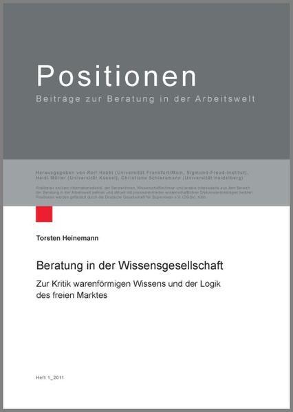 Beratung in der Wissensgesellschaft - Coverbild