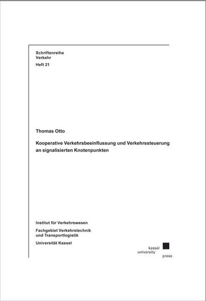 Kooperative Verkehrsbeeinflussung und Verkehrssteuerung an signalisierten Knotenpunkten - Coverbild
