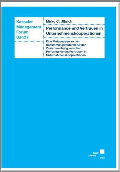 Performance und Vertrauen in Unternehmenskooperationen - Coverbild