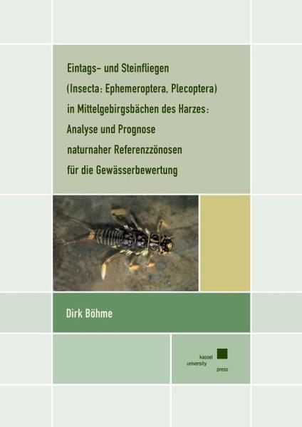 Eintags- und Steinfliegen (Insecta: Ephemeroptera) in Mittelgebirgsbächen des Harzes - Coverbild