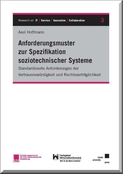 Anforderungsmuster zur Spezifikation soziotechnischer Systeme - Coverbild