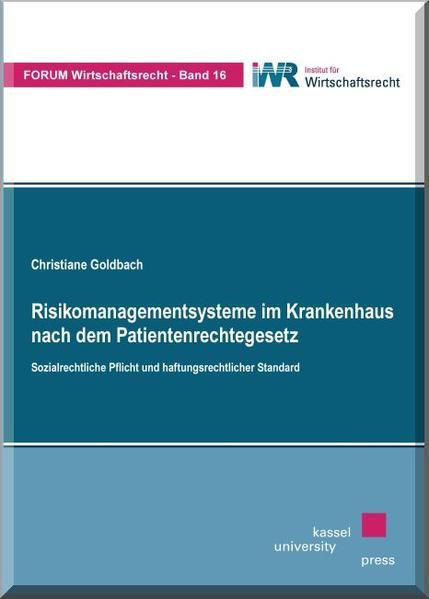 Risikomanagementsysteme im Krankenhaus nach dem Patientenrechtegesetz - Coverbild