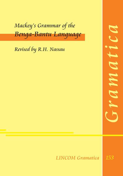 Mackey's Grammar of the Benga-Bantu Language - Coverbild