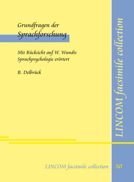 Grundfragen der Sprachforschung - Coverbild