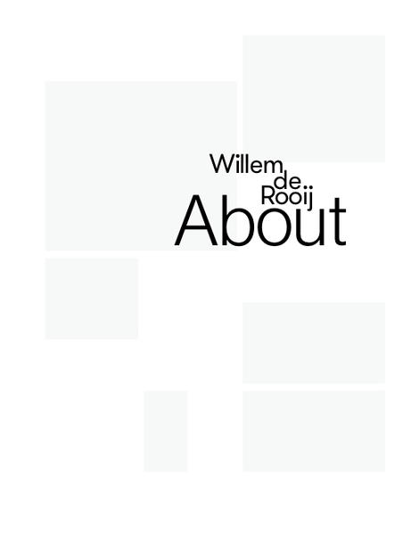 Willem de Rooij. About - Coverbild