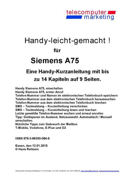 Siemens A75-leicht-gemacht - Coverbild