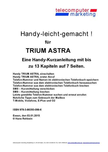 Trium Astra-leicht-gemacht - Coverbild