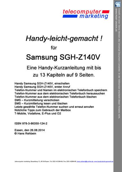 Samsung SGH-Z140V-leicht-gemacht - Coverbild