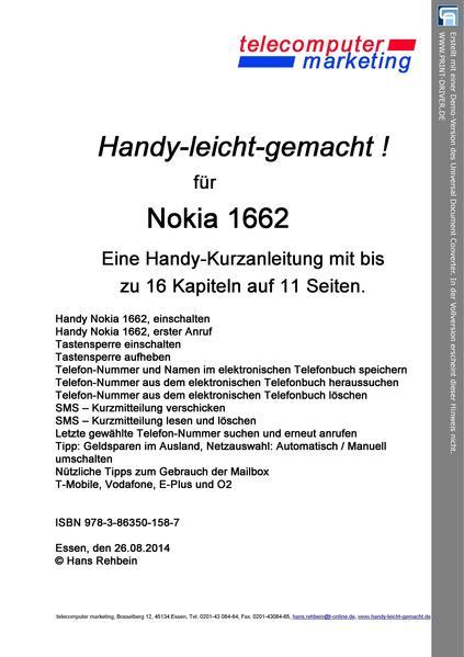 Nokia 1662-leicht-gemacht - Coverbild