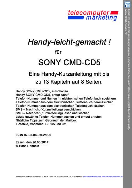 Sony Ericsson CMD-CD5-leicht-gemacht - Coverbild