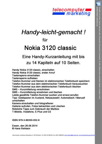 Nokia 3120 classic-leicht-gemacht - Coverbild