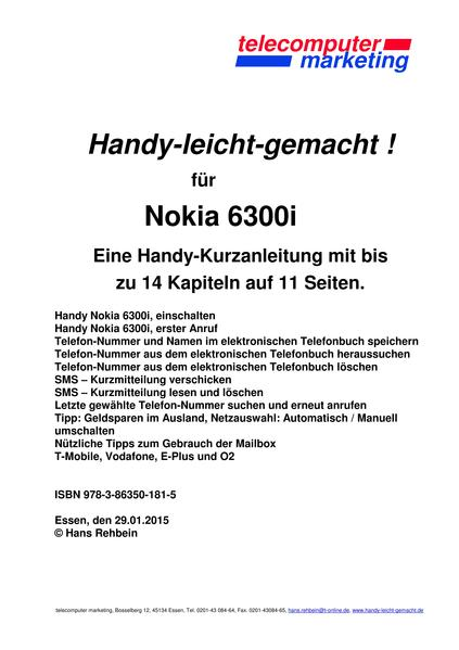Nokia 6300i-leicht-gemacht - Coverbild