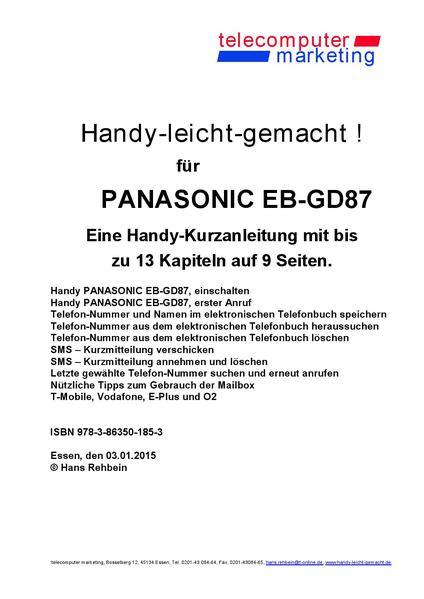 Panasonic EB-GD87-leicht-gemacht - Coverbild